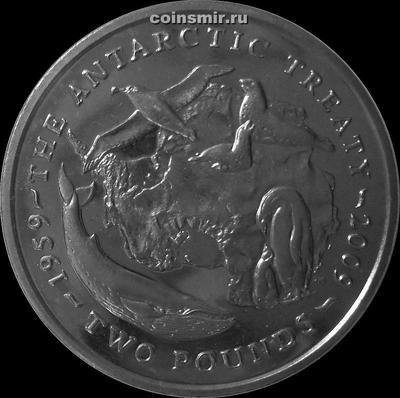 2 фунта 2009 Британская Антарктическая территория. 50 лет Антарктическому соглашению.