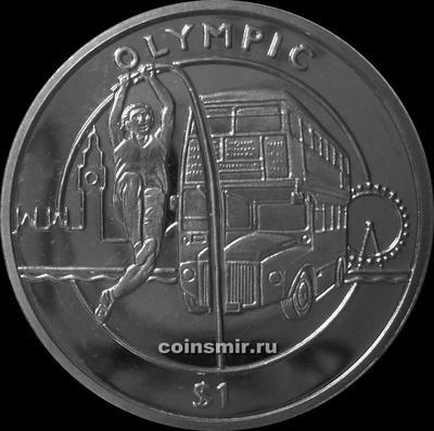 1 доллар 2012 Сьерра-Леоне. Олимпиада в Лондоне 2012. Прыжки с шестом.