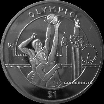 1 доллар 2012 Сьерра-Леоне. Олимпиада в Лондоне 2012. Баскетбол.