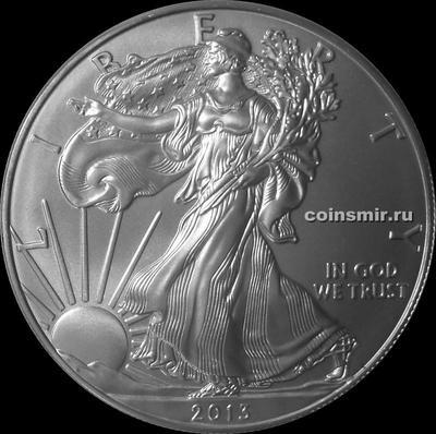 1 доллар 2013 США. Шагающая Свобода.
