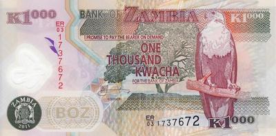 1000 квач 2011 Замбия.