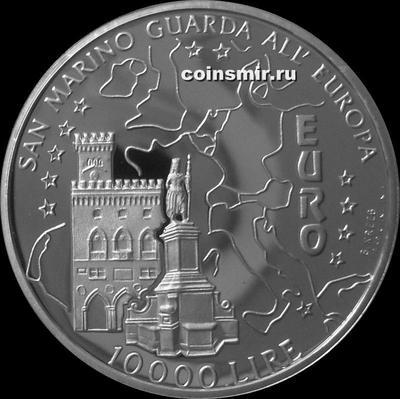 10000 лир 1996 Сан-Марино. Сохраним Европу.