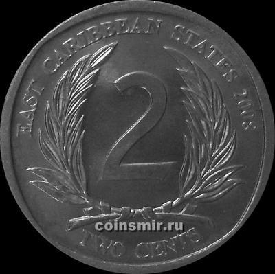 2 цента 2008 Восточные Карибы.