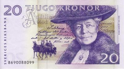 20 крон 1997-2008 Швеция.