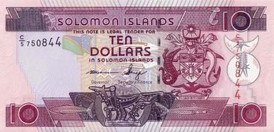 10 долларов 2006-12 Соломоновы острова.