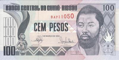 100 песо 1990 Гвинея-Бисау.