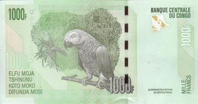 1000 франков 2013 Конго.