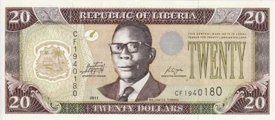 20 долларов 2011 Либерия.