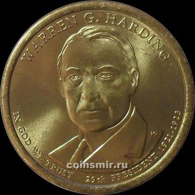 1 доллар 2014 D США. 29-й президент Уоррен Гардинг.