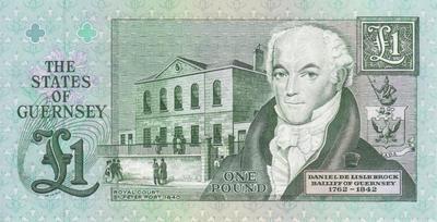 1 фунт 1991-1996 Гернси.