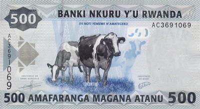 500 франков 2013 Руанда.