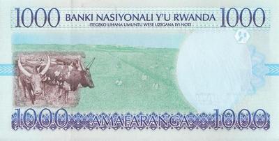 1000 франков 1998 Руанда.