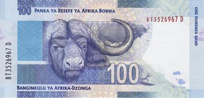 100 рандов 2012 Южная Африка.