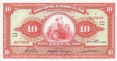 10 солей 1965 Перу.