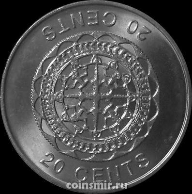 20 центов 2012 Соломоновы острова.
