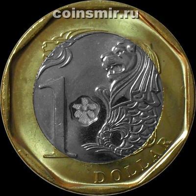 1 доллар 2013 Сингапур. Лев.