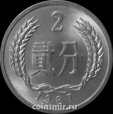 2 фыня 1987 Китай.