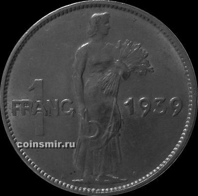 1 франк 1939 Люксембург.