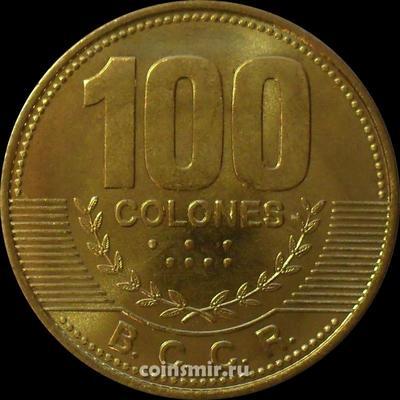 100 колонов 2007 Коста-Рика.