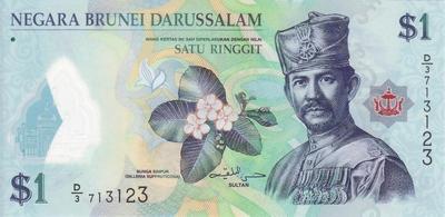 1 ринггит 2011 Бруней.