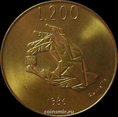 200 лир 1986 Сан-Марино.