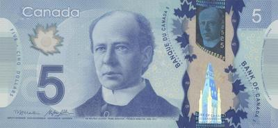 5 долларов 2013 Канада.