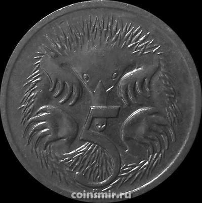 5 центов 1994 Австралия. Ехидна.