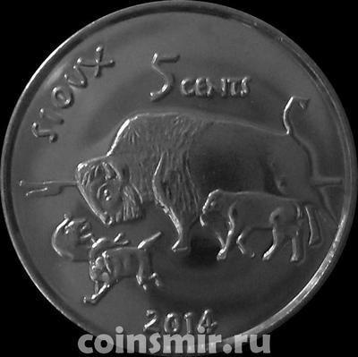 5 центов 2014 резервация Сиу.