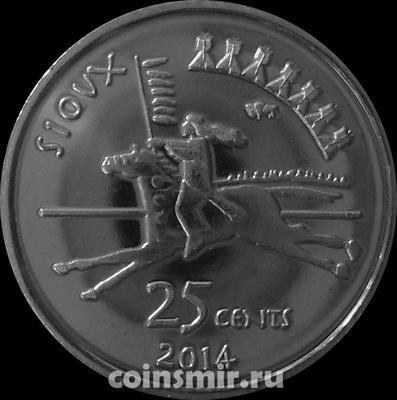 25 центов 2014 резервация Сиу.