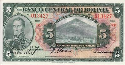 5 боливиано 1928 Боливия.