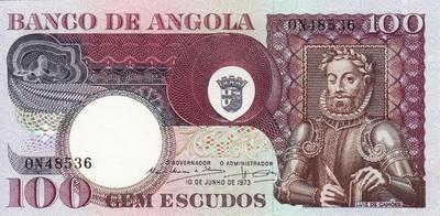 100 эскудо 1973 Ангола.