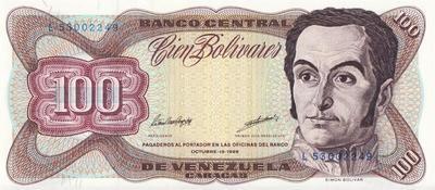 100 боливаров 1998 Венесуэла.
