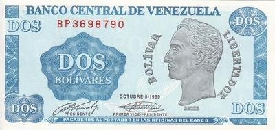 2 боливара 1989 Венесуэла.
