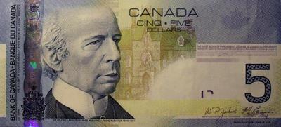 5 долларов 2006 Канада.