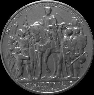 2 марки 1913 Пруссия. 100-летие поражения Наполеона.