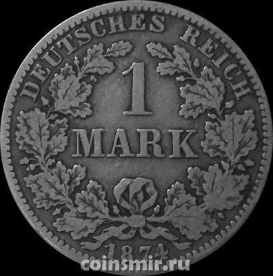 1 марка 1874 А Германия.