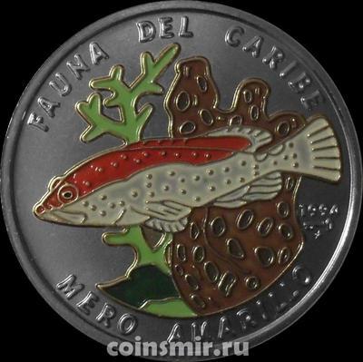 1 песо 1994 Куба. Морской окунь.