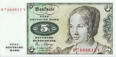 5 марок 1980 Германия (ФРГ).