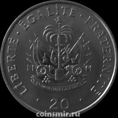 20 сантимов 1995 Гаити. Шарлемань Перальт.