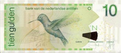 10 гульденов 2006 Нидерландские Антильские острова.