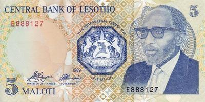 5 малоти 1989 Лесото.