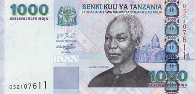 1000 шиллингов 2003 Танзания.