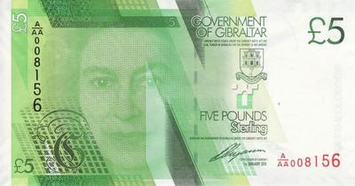 5 фунтов 2011 Гибралтар.