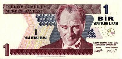 1 новая лира 2005 Турция.
