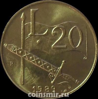20 лир 1989 Сан-Марино. 16 веков истории.