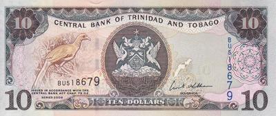 10 долларов 2006 Тринидад и Тобаго.