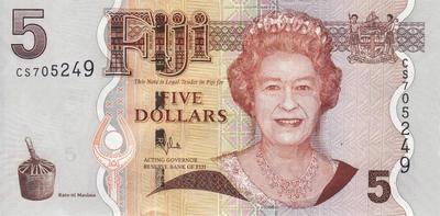 5 долларов 2007 - 2011 Фиджи.