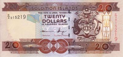 20 долларов 2006-2009 Соломоновы острова.