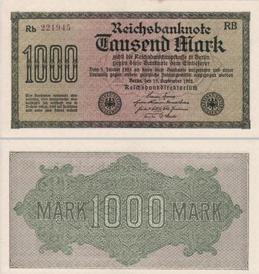1000 марок 1922 Германия.