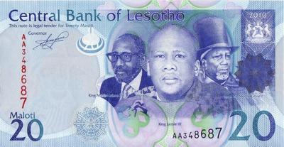 20 малоти 2010 Лесото.